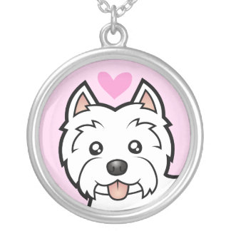West Highland White Terrier Love Silver Plated Necklace