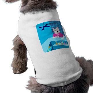 West Highland White Terrier Martini Bar Sleeveless Dog Shirt