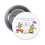West Highland White Terrier Mum Button