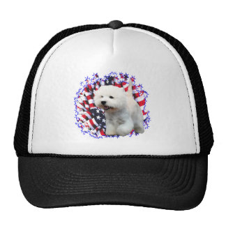 West Highland White Terrier Patriot Mesh Hats