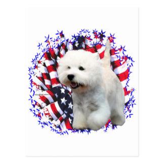 West Highland White Terrier Patriot Postcard