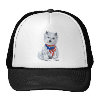 West Highland White Terrier Patriotic Cap