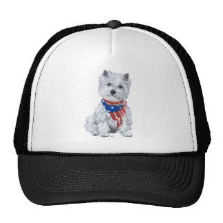 West Highland White Terrier Patriotic Cap
