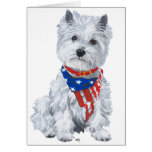 West Highland White Terrier Patriotic Cards