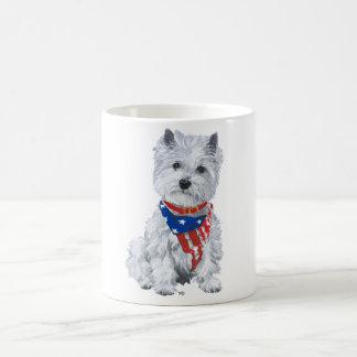 West Highland White Terrier Patriotic Coffee Mug