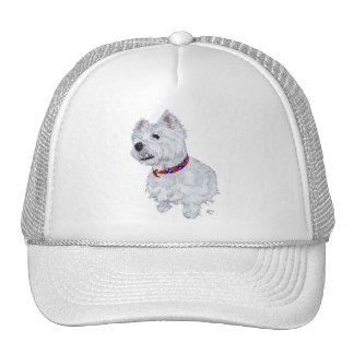 West Highland White Terrier Patriotic Mesh Hats