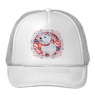 West Highland White Terrier Patriotic Hat