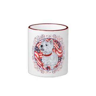 West Highland White Terrier Patriotic Coffee Mugs