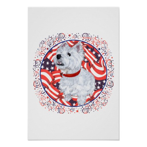 West Highland White Terrier Patriotic Posters