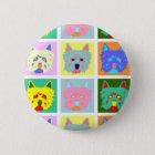 West Highland White Terrier Pop Art 6 Cm Round Badge