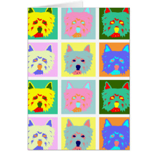 West Highland White Terrier Pop Art Card