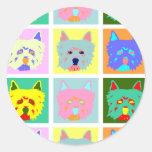 West Highland White Terrier Pop Art Round Sticker