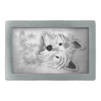 West Highland White Terrier Rectangular Belt Buckles