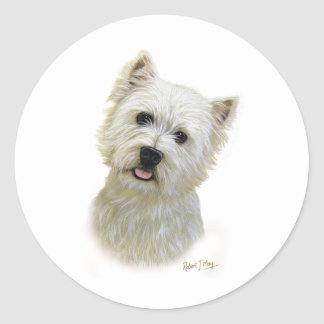 West Highland White Terrier Round Sticker