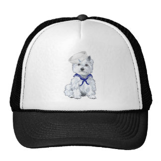 West Highland White Terrier Sailor Cap