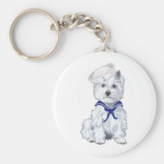 West Highland White Terrier Sailor Key Ring