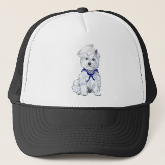 West Highland White Terrier Sailor Trucker Hat