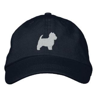 West Highland White Terrier Silhouette Baseball Cap