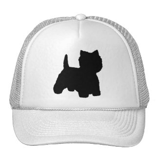 West Highland White Terrier Silhouette Cap