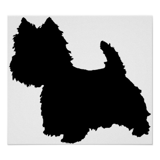West Highland White Terrier Silhouette Print