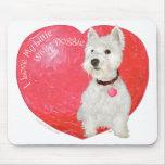 West Highland White Terrier Valentine Mousepad