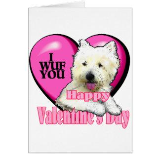 West Highland White Terrier Valentines Cards