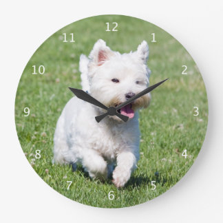 West Highland White Terrier, westie dog cute photo Wallclock