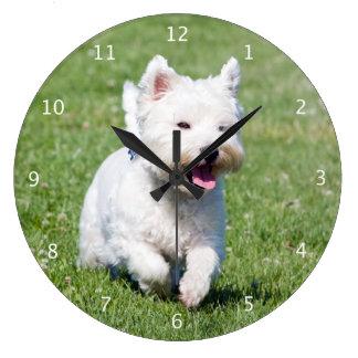 West Highland White Terrier, westie dog cute photo Wallclock