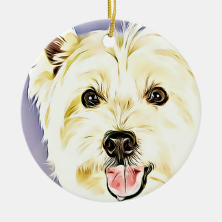 West Highland White Terrier,Westie,Dog,Puppy Christmas Ornament
