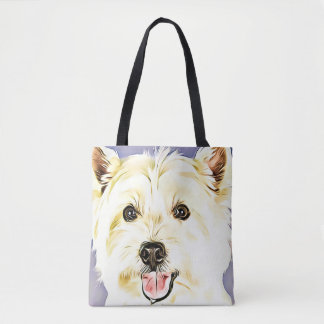West Highland White Terrier,Westie,Dog,Puppy Tote Bag