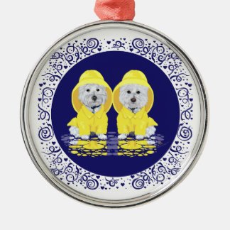 West Highland White Terriers Rain Christmas Ornament
