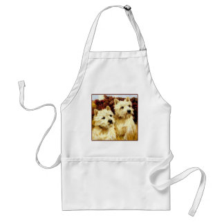 West highland White Terriers - Wardle Standard Apron