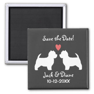 West Highland White Terriers Wedding Save the Date Fridge Magnet