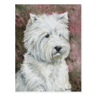West Highlland White Terrier Dog Art Postcard