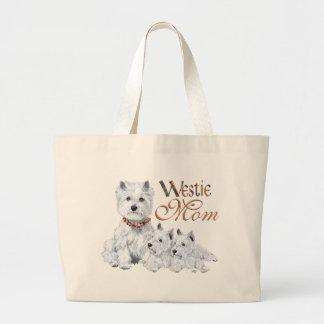 West Higland White Terrier MOM Large Tote Bag