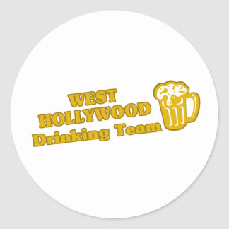 West Hollywood Drinking Team tee shirts Round Stickers