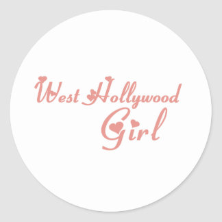 West Hollywood Girl tee shirts Round Stickers