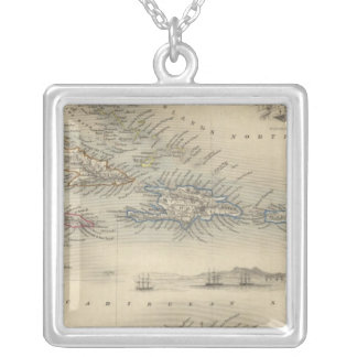 West India Islands 3 Silver Plated Necklace