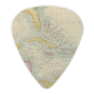 West India Islands Acetal Guitar Pick