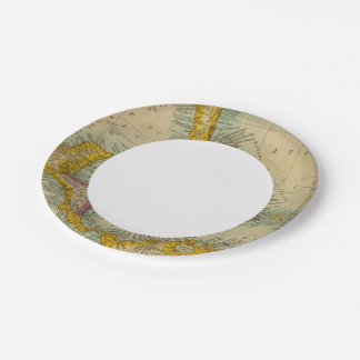 West India Islands Paper Plate