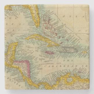 West India Islands Stone Coaster
