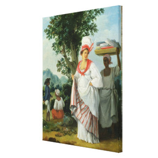 West Indian Creole Woman with her Black Servant, c Canvas Print