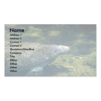 West Indian (Florida) Manatee-breathing Double-Sided Standard Business Cards (Pack Of 100)