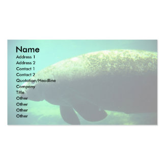 West Indian (Florida) Manatee-underwater Pack Of Standard Business Cards