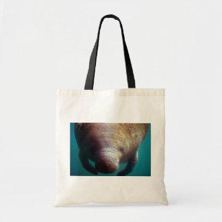 West Indian (Florida) Manatee-underwater Budget Tote Bag