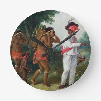 West Indian Man of Colour, Directing two Carib Wom Wall Clocks