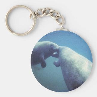 West Indian manatee Key Ring