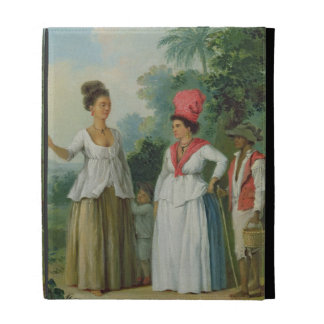 West Indian Women of Colour with a Child and Blac iPad Folio Cover