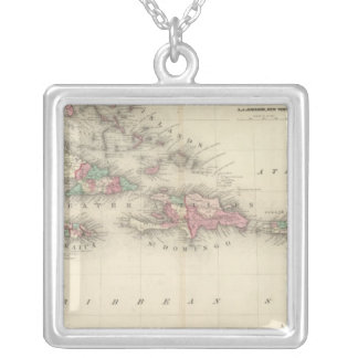 West Indies 3 Silver Plated Necklace