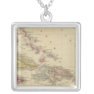 West Indies 5 Silver Plated Necklace